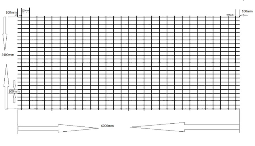 Slab mesh reinforcement for footing slab, beam and piers
